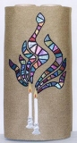 Dor LDor Candles in Stained Glass