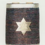 Gold Star on Multicolored Background