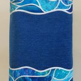 Ocean Wave Stained Glass Border