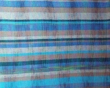 Hand Woven Baby Blanket Baby Gift, Blue Palette