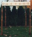 Cochin Freestanding Huppah with Hand Turned Poles