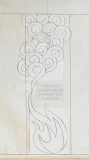 Drawing for Remember Holocaust Torah Mantle