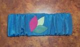 Elasticized Blue Torah Binder with Velcro
