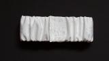 Elasticized White Torah Binder with Velcro