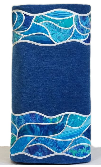 Ocean Wave Stained Glass Border Everyday Torah Cover main